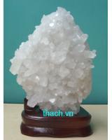 Khối đá thạch anh trắng phong thủy TR03