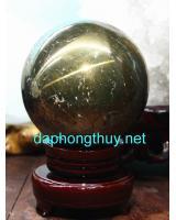 Đá phong thủy quả cầu vàng găm GC10.5