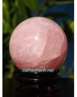 Quả cầu đá thạch anh hồng DHC08.2