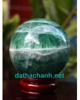 Quả cầu ngọc lục bảo fluorit DXC8.6