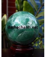 Quả cầu ngọc lục bảo fluorit DXC10.4a