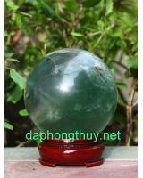 Quả cầu đá ngọc lục bảo fluorit DXC7.5