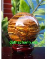 Quả cầu đá thạch anh mắt hổ DMH10.7