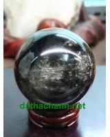 Quả cầu đá thạch anh đen DDC7.6a