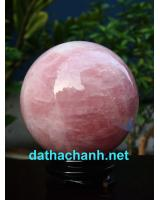 Quả cầu đá thạch anh hồng DHC10.1