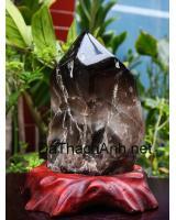 Khối đá quý thạch anh đen DK18