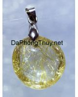 Mặt đá thạch anh tóc vàng tuyệt đẹp DTOM13