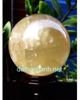 Quả cầu đá canxit vàng DVCC12