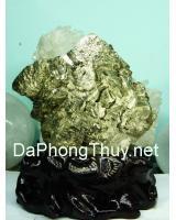 Khối đá vàng găm pyrit DVG6