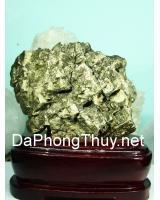 Khối đá vàng găm pyrit DVG4