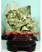 Khối đá vàng găm pyrit DVG2