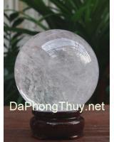 Quả cầu đá thạch anh trắng DTRC7.2a