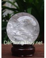 Quả cầu đá thạch anh trắng DTRC6.4