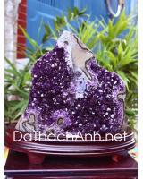 Khối đá quý thạch anh tím DT523