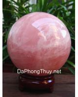 Quả cầu đá thạch anh hồng DHC12.7