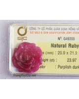 Hoa mẫu đơn đá quý ruby DRBH23.97