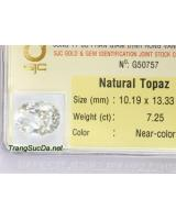 Viên trang sức đá topaz trắng DPAZ7.25