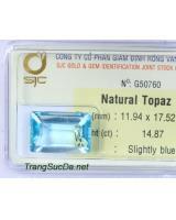 Trang sức đá topaz xanh DPAZ14.87