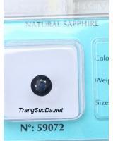 Đá quý sapphire đen ánh titan DSPD2.42