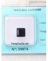 Đá quý sapphire đen DSPD3.56