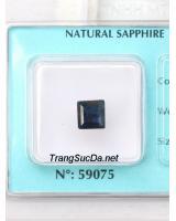 Đá sapphire xanh đen ánh titan DSPD1.89a