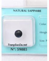 Đá sapphire xanh đen ánh titan DSPD1.89