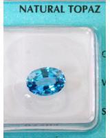 Viên đá quý topaz xanh dpaz3.18