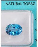 Viên đá quý topaz xanh DPAZ5.28