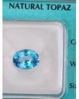 Viên đá quý topaz xanh DPAZ2.45