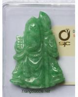 Tượng Quan Công đá cẩm thạch DJADEP11.1
