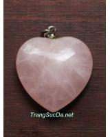 Mặt đeo trái tim thạch anh hồng dtimhong3