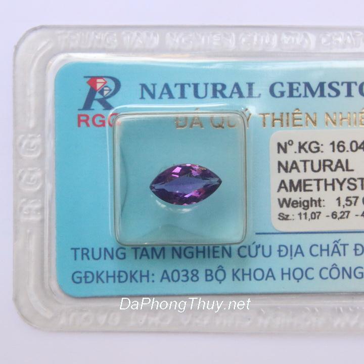 Viên đá thạch anh tím thiên nhiên DTKD1.57