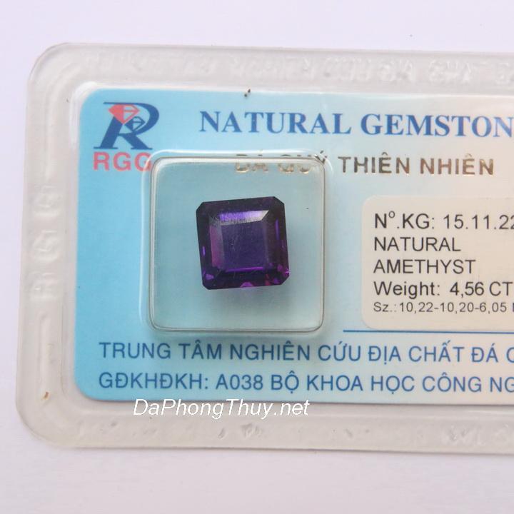 Viên đá thạch anh tím thiên nhiên DTKD4.56