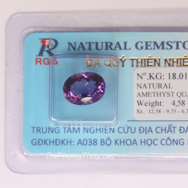 Viên đá thạch anh tím thiên nhiên DTKD4.58