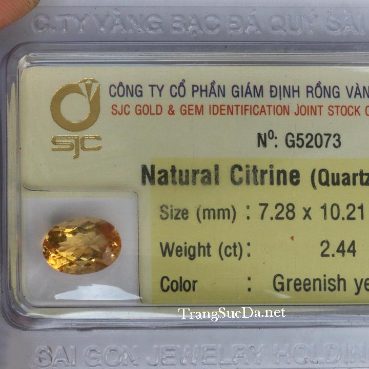 Viên đá kiểm định thạch anh vàng DVM2.44