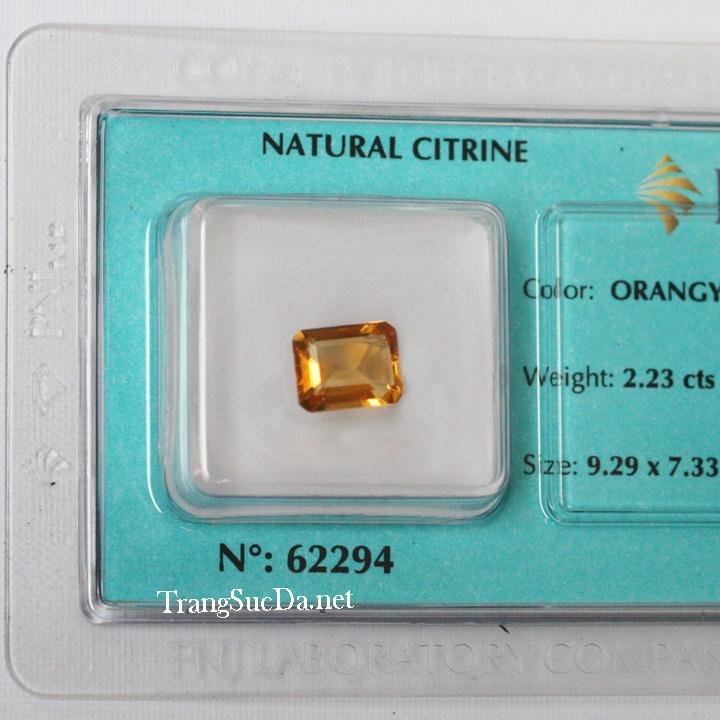 Viên đá kiểm định thạch anh vàng DVM2.23