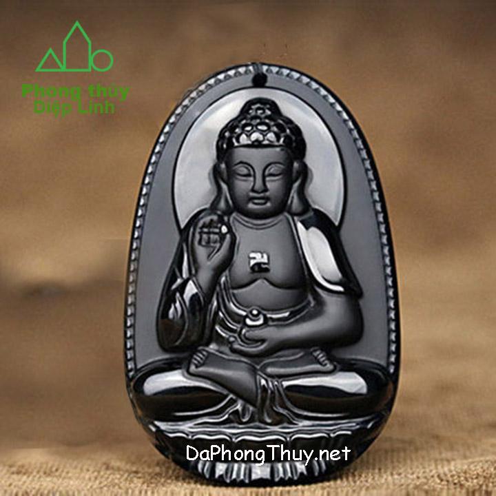 Phật Bản Mệnh A Di Đà Núi Lửa Obsidian