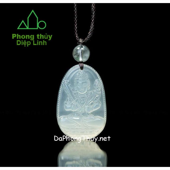 Phật Bản Mệnh Hư Không Tạng Bồ Tát Mã Não Trắng