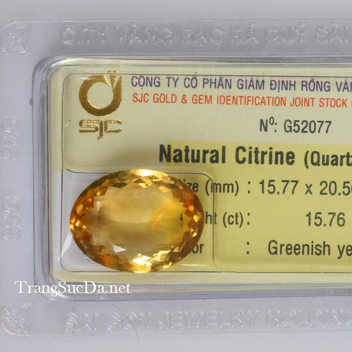 Viên đá kiểm định thạch anh vàng DVM15.76