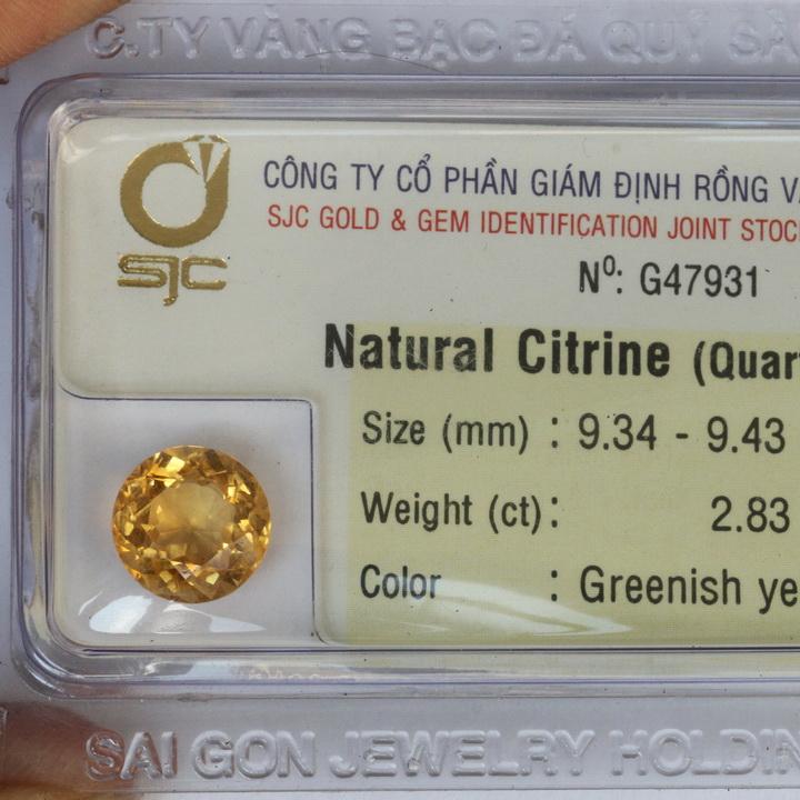 Viên đá kiểm định thạch anh vàng DVM2.83