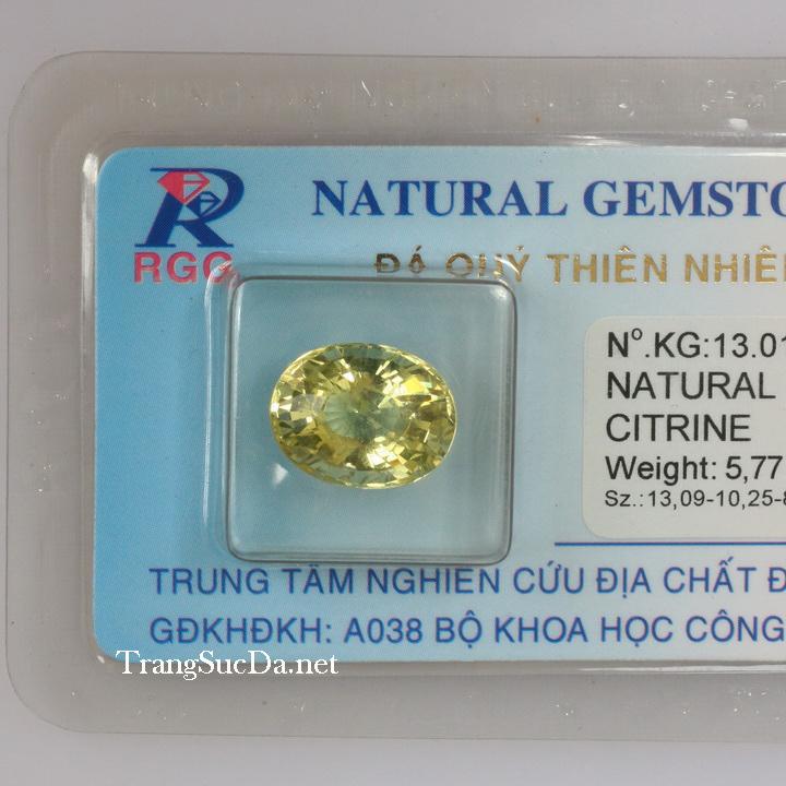 Viên đá kiểm định thạch anh vàng DVM5.77