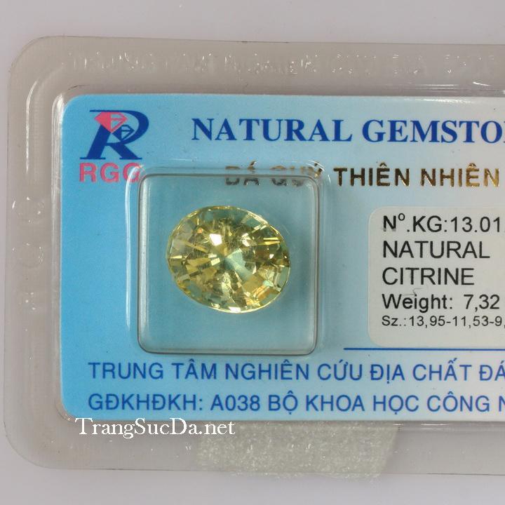 Viên đá kiểm định thạch anh vàng DVM7.32