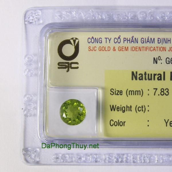 Viên đá peridot ngọc olivin DPERI02.02