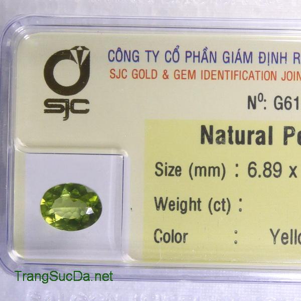 Viên đá peridot ngọc olivin DPERI1.55