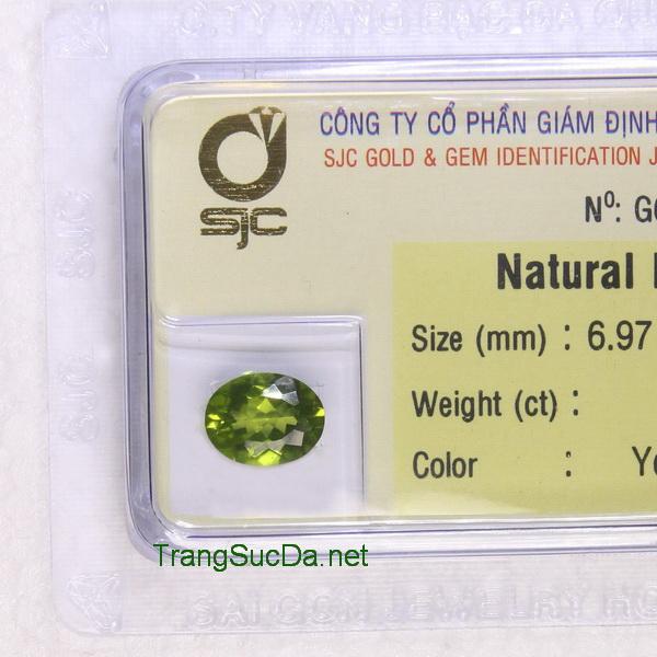 Viên đá peridot ngọc olivin DPERI1.68