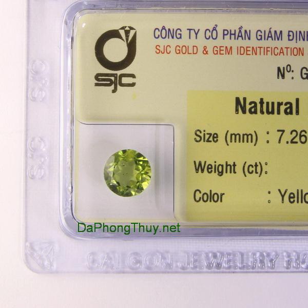 Viên đá peridot ngọc olivin DPERI1.73