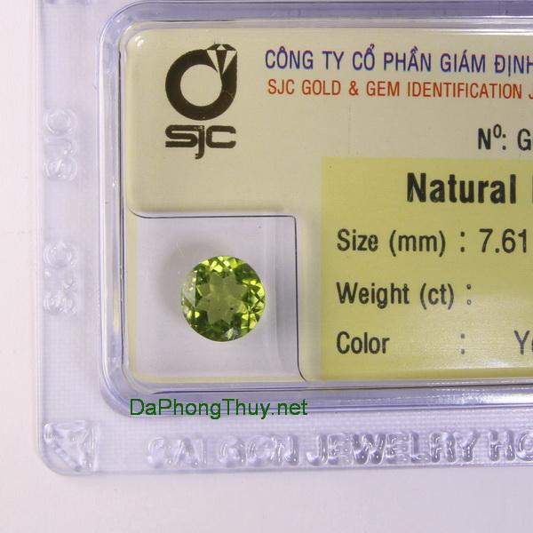 Viên đá peridot ngọc olivin DPERI1.74