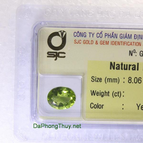 Viên đá peridot ngọc olivin DPERI2.71