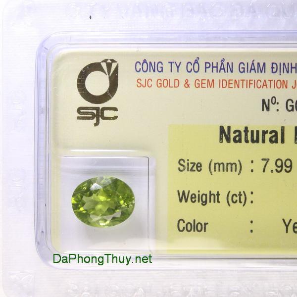 Viên đá peridot ngọc olivin DPERI2.93