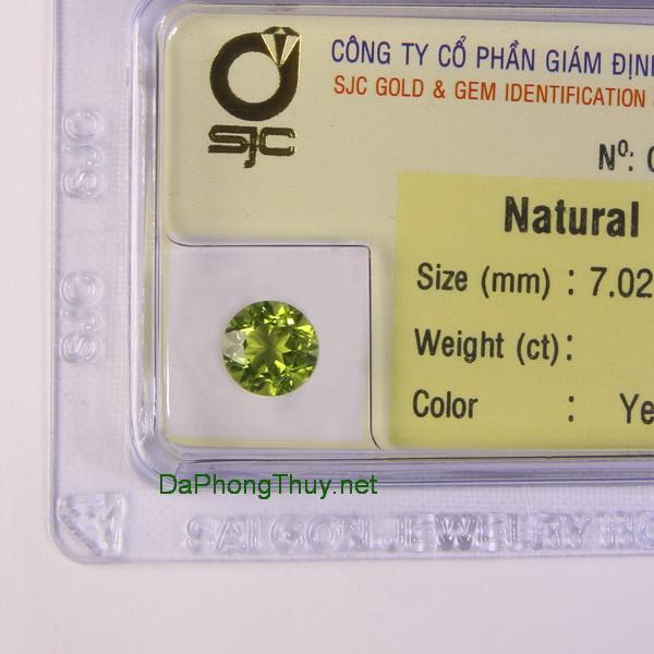 Viên đá peridot ngọc olivin DPERI01.68